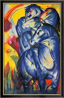 """Bild """"Turm der blauen Pferde"""" (1913), gerahmt"""