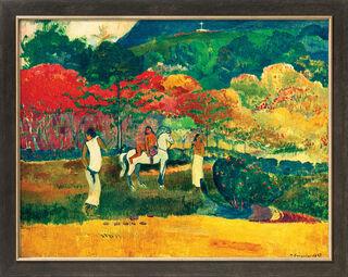 """Bild """"Frau mit weißem Pferd"""" (1903), gerahmt"""