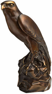 """Skulptur """"Falke"""", Version in Bronze"""