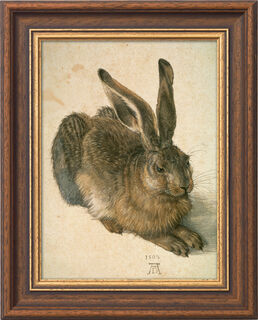 "Bild ""Junger Feldhase"" (1502), gerahmt"