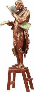 """Skulptur """"Der Bücherwurm"""", Version in Metallguss"""