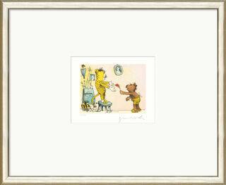 """Bild """"Eine Blume für den Sieger, sagt der Bär zum kleinen Tiger"""", gerahmt"""