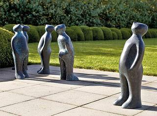 "Skulptur ""The Visitor"", Version in Bronze"