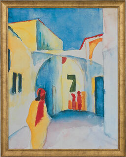"""Bild """"Blick in eine Gasse"""" (1914), gerahmt"""