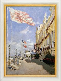 """Bild """"Das Hotel des Roches Noires in Trouville"""" (1870), gerahmt"""