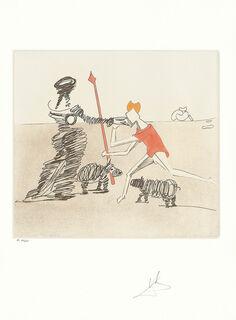 "Bild ""Don Quijote (K) - Pastorale"" (1980), ungerahmt"