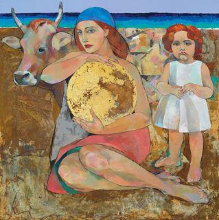 """Bild """"Judith, die die Sonne hält"""", auf Keilrahmen"""