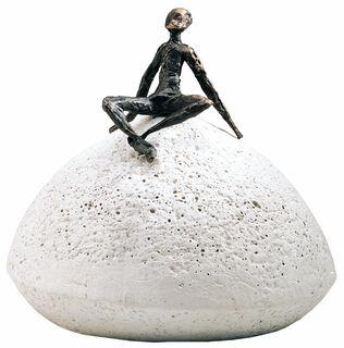 """Skulptur """"Zeit der Entspannung"""", Bronze auf Steinguss"""