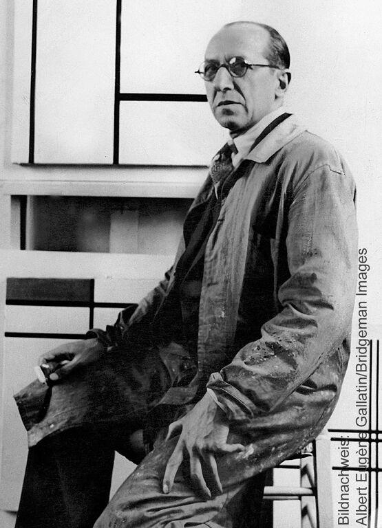 Porträt des Künstlers Piet Mondrian