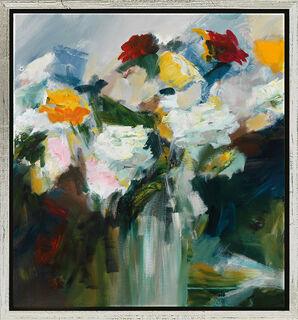 """Bild """"Blumen"""" (2015), gerahmt"""