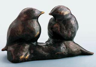 """Skulptur """"Spatzen"""", Bronze"""