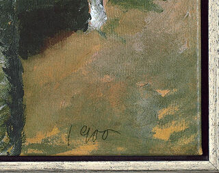 """Bild """"Birkenweg"""" (1900), gerahmt"""