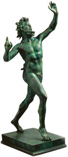"Skulptur ""Fauno Danzante aus Pompeji"" (Originalgröße), Version in Kunstbronze"