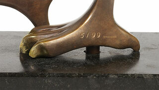 "Skulptur ""Kerkuil (Schleiereule)"", Reduktion in Bronze"