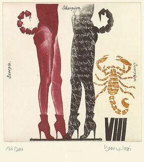 """Bild """"Sternzeichen Skorpion"""" (24.10.-22.11.), gerahmt"""