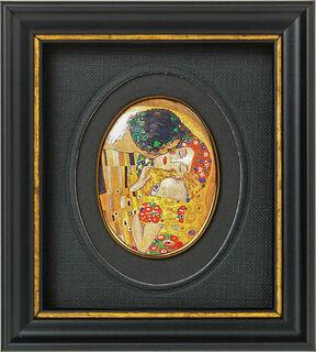 "Miniatur-Porzellanbild ""Der Kuss"" (1907-08), gerahmt"