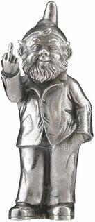 "Skulptur ""Sponti-Zwerg"", Version versilbert"