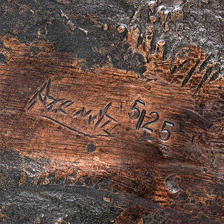 """Gartenskulptur """"Eiderente sitzend"""", Bronze"""