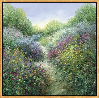 "Bild ""Chemin Fleurie en Provence"", gerahmt"
