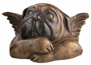 """Skulptur """"Sixtinischer Mops (mit verschränkten Armen)"""", Version in Bronze"""