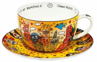 "Cappuccinotasse ""City of Romance"", Porzellan"