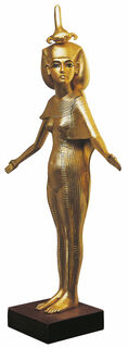 "Skulptur ""Schutzgöttin Selket"" (Reduktion), vergoldet"