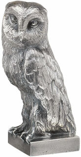 "Skulptur ""Eule"", Version versilbert"