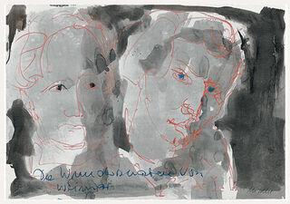 """Bild """"Die Wunderknaben von Weimar - Johann Wolfgang von Goethe und Friedrich Schiller"""" (2009), ungerahmt"""