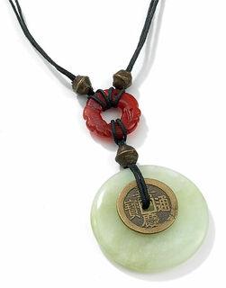 Chinesischer Jade-Münzanhänger