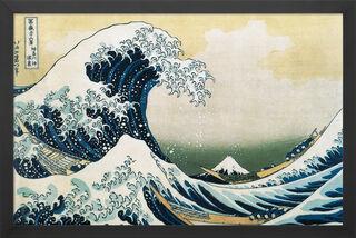 """Bild """"Die große Welle vor Kanagawa"""" (1830), gerahmt"""